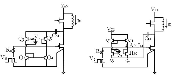 Schematic of control circuitry for dv/dt