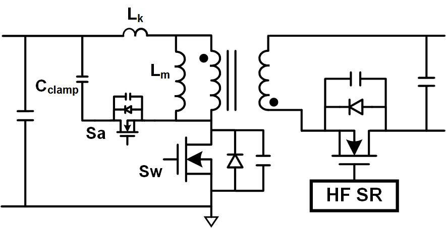 Image of active clamp flyback converter topology