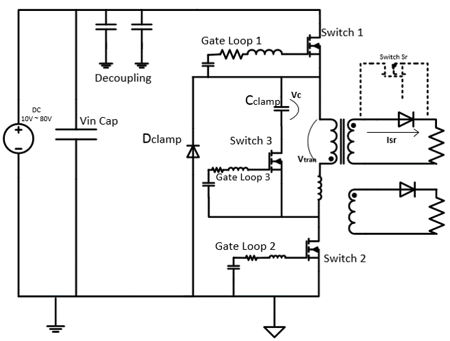Wire layout of DC converter