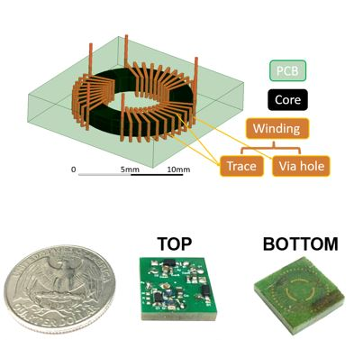 designed, and fabricated DC converter and embedded transformer