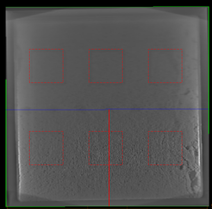 X-ray image of sintered DBA substrate