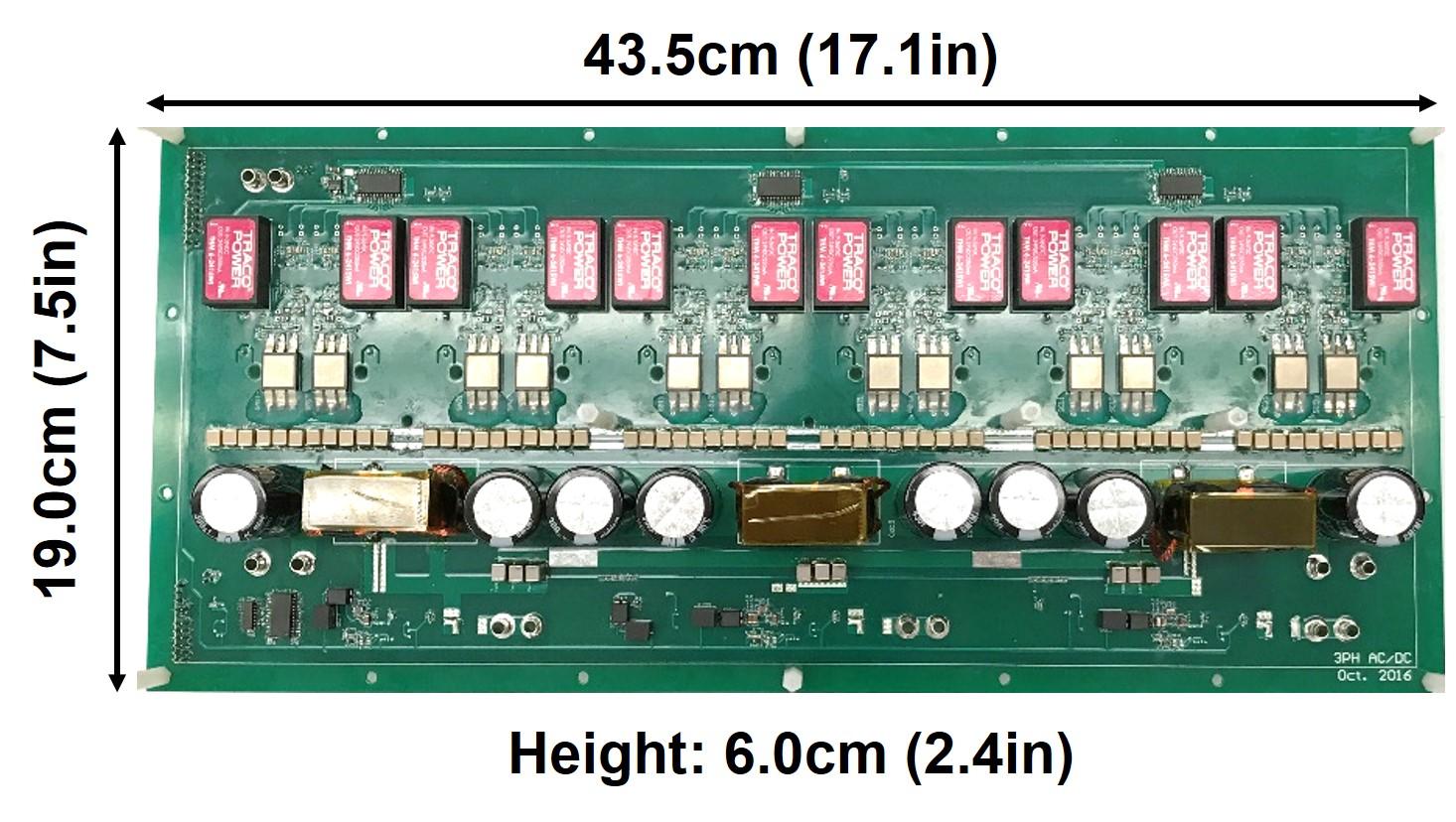 Image of SiC-based bidirectional three-phase ac-dc converter prototype.