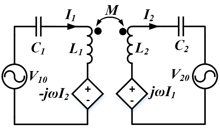 Image of equivalent circuit model of the topology.