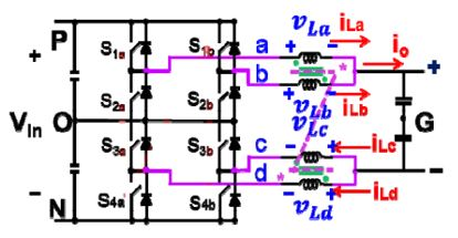 Image of three-level dc-dc converter with integrated coupled inductors.