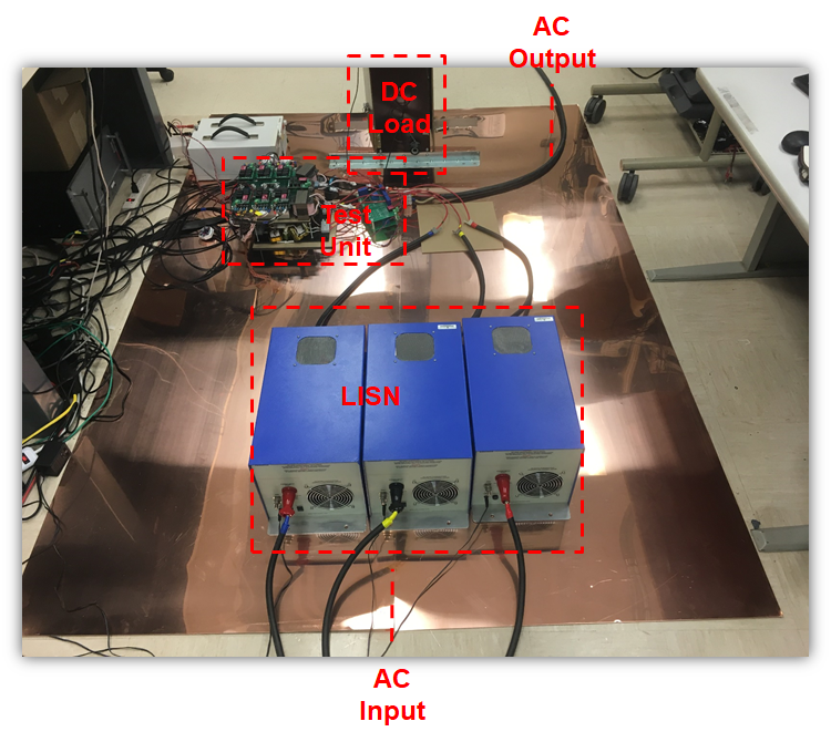 Image of EMI emission test environment for UPS systems.