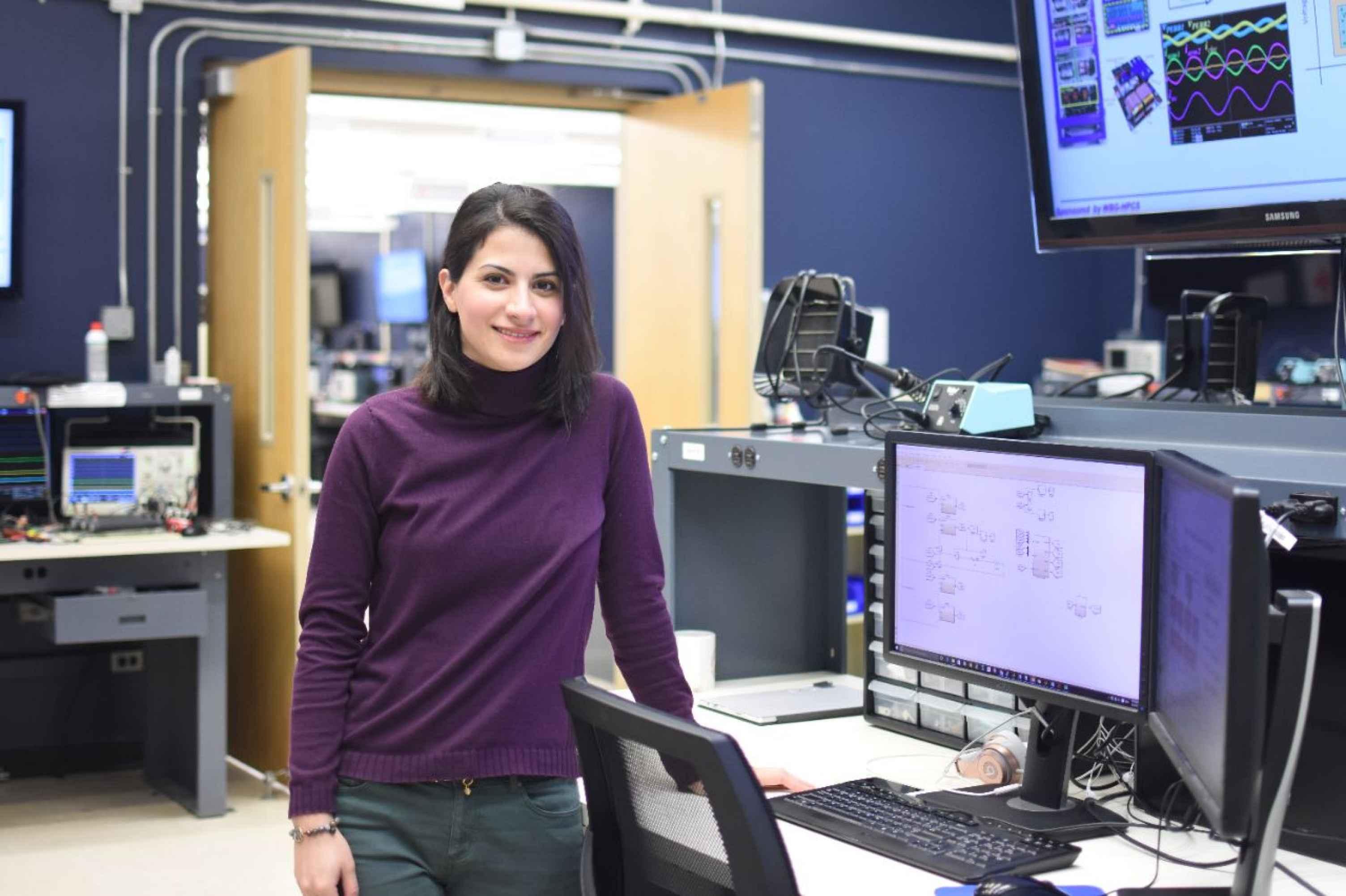 Image of Niloofar Rashidi Mehrabadi in the CPES Lab.