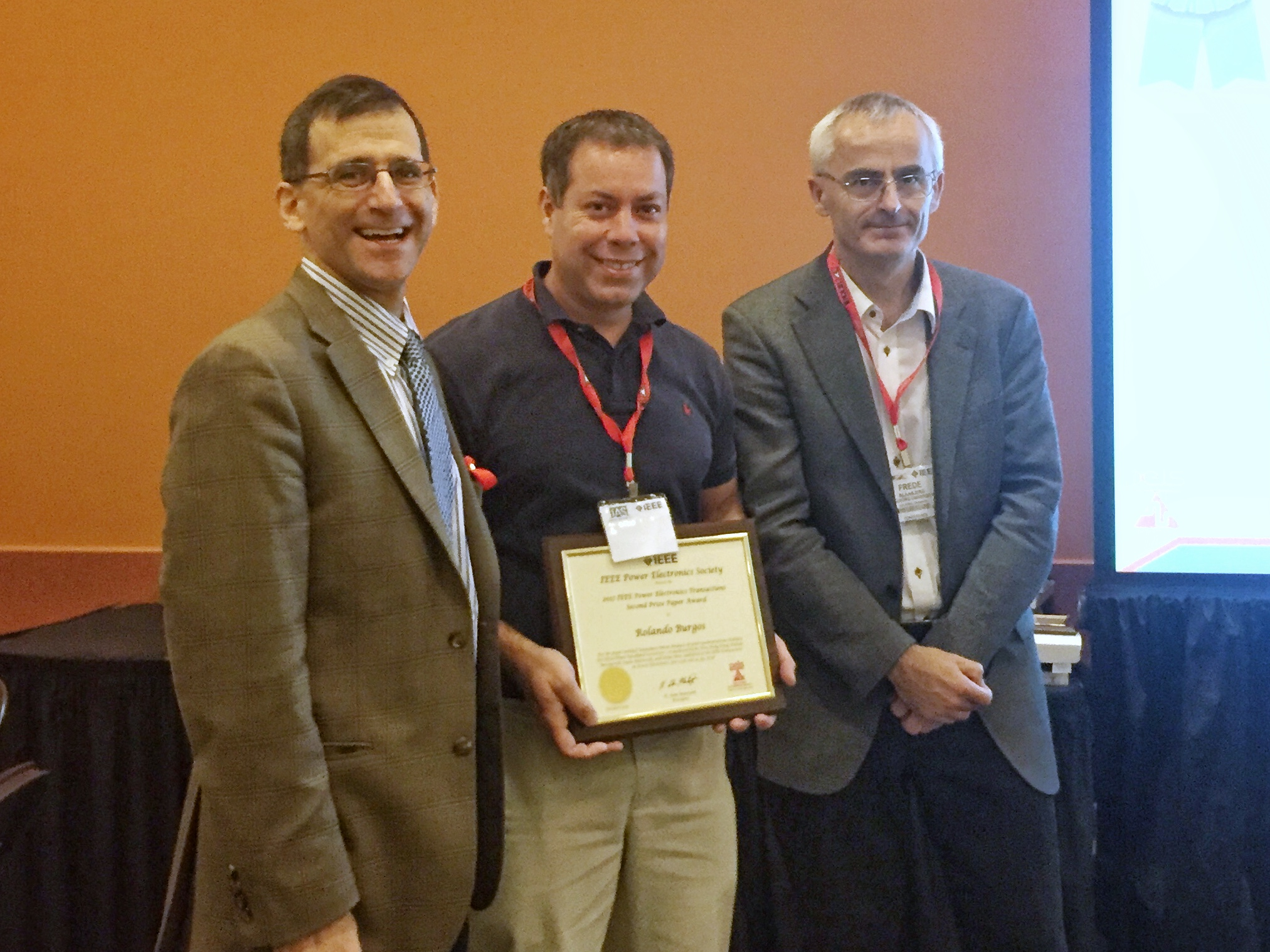 CPES Professor Dr. Rolando Burgos receives Second Place in the TPEL Prize Paper Award.