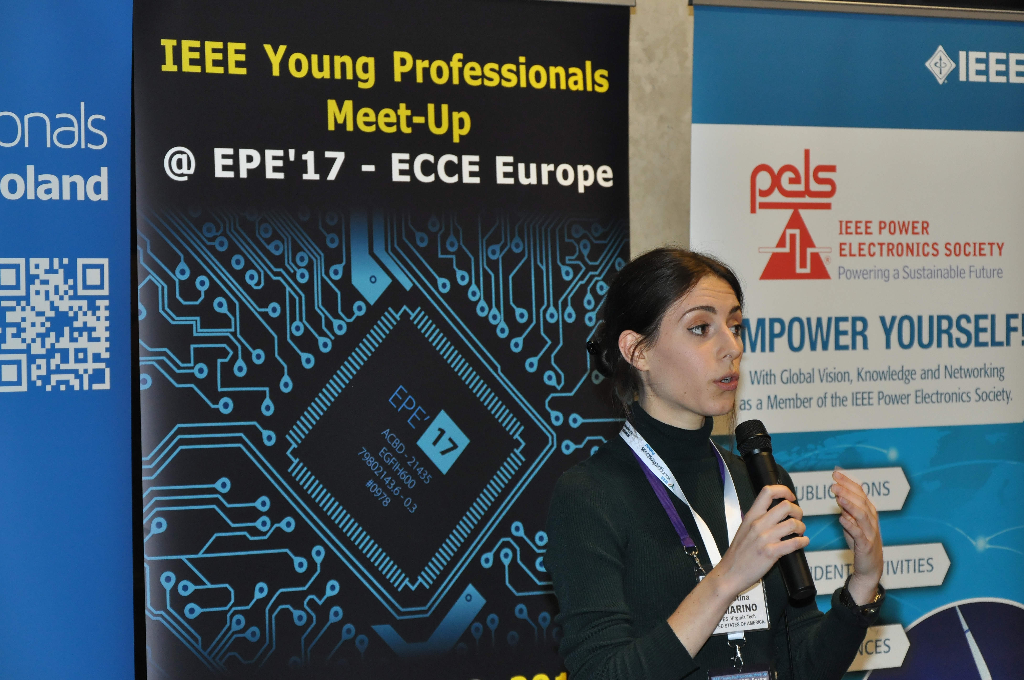 CPES Assistant Technical Editor Christina DiMarino at the EPE