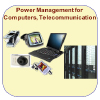 Icons showing equipment used in power management for computers