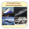 Icons showing equipment used in vehicular power converter systems